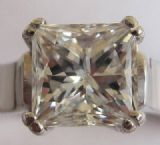 .95ct of 1ct princess cut solitaire top quality diamond  18ct white gold ring